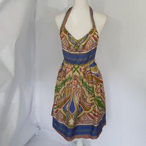 Nicole Miller Silk Halter Mini Dress